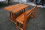 фирма за дървени маси с 1 пейка