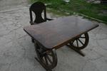 изработка на битова маса с 1 дървен стол за заведение