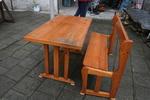 битова маса с една пейка по поръчка