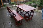 битови маси с една пейка за заведения