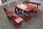 фирма за дървени маси с 2 пейки