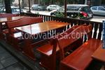 фирма за битови маси с две пейки от масив