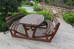 дървени пейки с маса