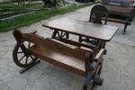 битова маса с една пейка и 1 стол