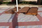 богат асортимент  дървени шезлонги с отлично качество