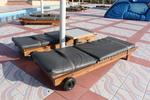 Дървени шезлонги за целогодишно ползване в градски курорти