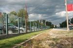 стъклена ограда за авто къща