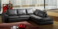 Кожен диван тройка 177/104/80см с лежанка