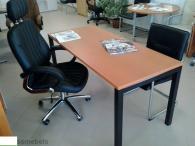 Офис бюро с ПДЧ плот и метални крака