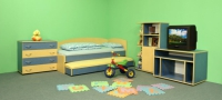 Детска стая двойно легло с ракла