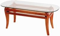 Декоративна маса за дневна със стъклено покритие