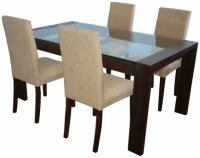 Маса и столове цвят венге