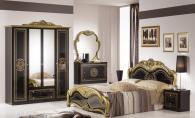 Класически мебели за спалня в черно и златно