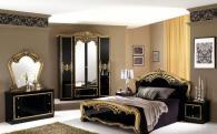 Стилно спално обзавеждане в черно