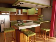 Мебели за кухня от три цвята