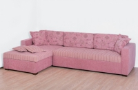 Ъглов диван в розово