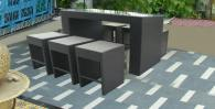 Комплект мебели за бар от ратан