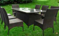 Комплект градински мебели от ратан
