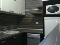 Луксозни мебели за кухня цвят венге