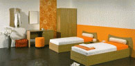Спален комплект в оранжево