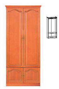 Двукрилен гардероб с размери 210,5/90/54см