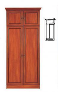 Двукрилен гардероб с надстройка