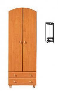 Двукрилен гардероб с размери 203/68/53см
