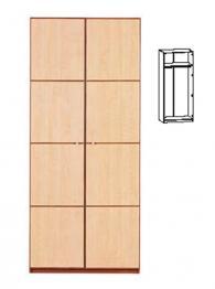Двукрилен гардероб с размери 208,5/90/56,5см