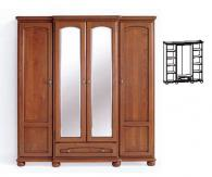 Гардероб за спалня с огледала 220/56,5-63/63см