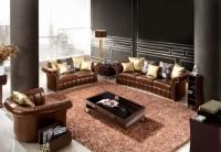 Кожен диван тройка 260/104/72см