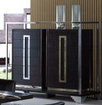 Стилен шкаф 150/60/130см в черно