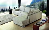 Луксозен бял ъглов диван