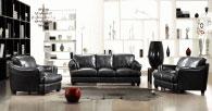 Модерен диван тройка 235/106/91см в черно