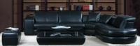 Луксозен ъглов диван в цвят черно