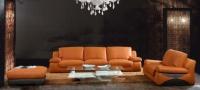 Модерна холна гарнитура в оранжево