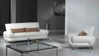 Стилен бял диван за дневна