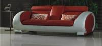 Дизайнерски диван в червено и бяло
