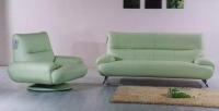 Комплект диван с фотьойл в светло зелено