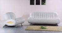 Комплект диван с фотьойл в бяло