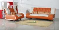 Дизайнерски диван с фотьойл в бяло и оранжево