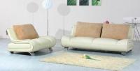 Стилен диван с фотьойл в цвят слонова кост