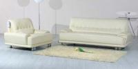 Класически диван с фотьойл в цвят бяло