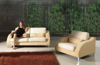 Стилен двоен диван с фотьойл