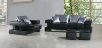 Дизайнерски двоен диван с фотьойл в черно