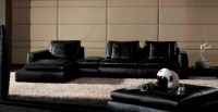 Дизайнерски ъглов диван черен