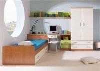 Детска стая - зелено, ванилия, дървесен цвят