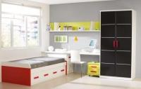 Детска стая - черно и червено