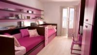 детски легла в розово