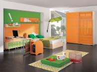 детска стая в оранжево