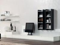 TV секция в бяло и черно